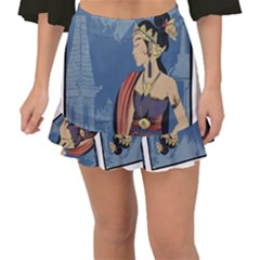 Java Indonesia Girl Headpiece Fishtail Mini Chiffon Skirt