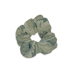 Vintage Background Green Leaves Velvet Scrunchie
