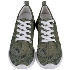 Vintage Background Green Leaves Men s Lightweight Sports Shoes