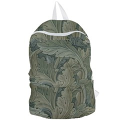 Vintage Background Green Leaves Foldable Lightweight Backpack