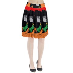 Eyes Makeup Human Drawing Color Pleated Skirt