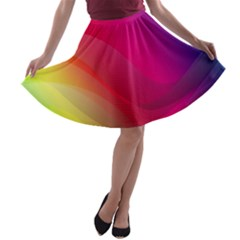 Background Wallpaper Design Texture A Line Skater Skirt