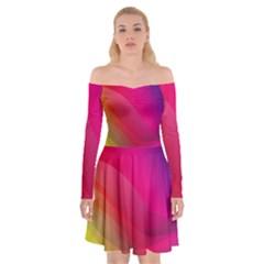 Background Wallpaper Design Texture Off Shoulder Skater Dress