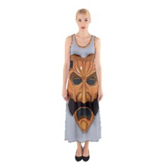 Mask India South Culture Sleeveless Maxi Dress