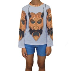 Mask India South Culture Kids  Long Sleeve Swimwear