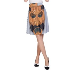 Mask India South Culture A Line Skirt
