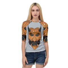 Mask India South Culture Quarter Sleeve Raglan Tee