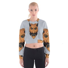 Mask India South Culture Cropped Sweatshirt