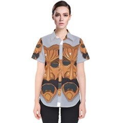 Mask India South Culture Women s Short Sleeve Shirt