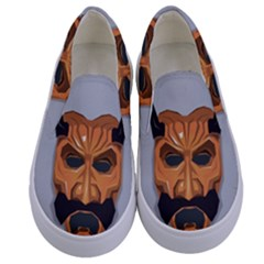 Mask India South Culture Kids  Canvas Slip Ons