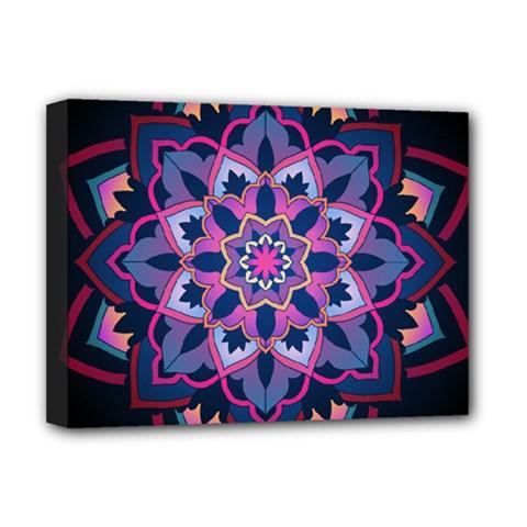 Mandala Circular Pattern Deluxe Canvas 16  X 12   by Nexatart