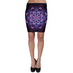 Mandala Circular Pattern Bodycon Skirt