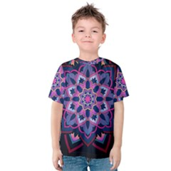 Mandala Circular Pattern Kids  Cotton Tee