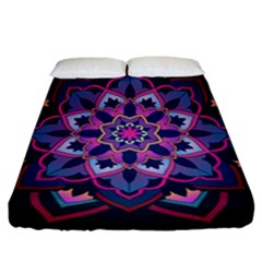 Mandala Circular Pattern Fitted Sheet (california King Size)