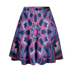 Mandala Circular Pattern High Waist Skirt