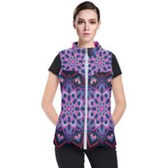 Mandala Circular Pattern Women s Puffer Vest