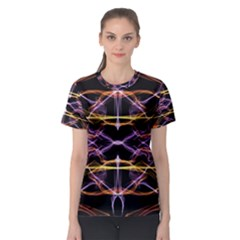 Wallpaper Abstract Art Light Women s Sport Mesh Tee