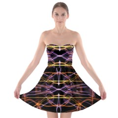 Wallpaper Abstract Art Light Strapless Bra Top Dress