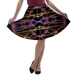 Wallpaper Abstract Art Light A Line Skater Skirt