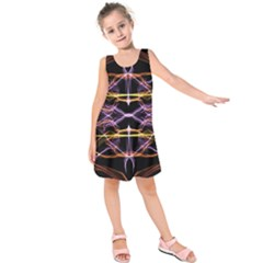 Wallpaper Abstract Art Light Kids  Sleeveless Dress