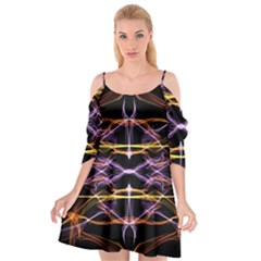 Wallpaper Abstract Art Light Cutout Spaghetti Strap Chiffon Dress
