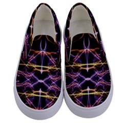 Wallpaper Abstract Art Light Kids  Canvas Slip Ons