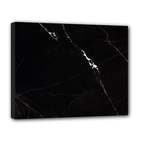 Black Marble Tiles Rock Stone Statues Canvas 14  X 11
