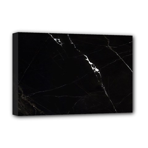Black Marble Tiles Rock Stone Statues Deluxe Canvas 18  X 12