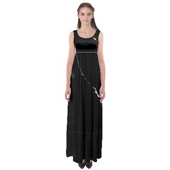 Black Marble Tiles Rock Stone Statues Empire Waist Maxi Dress