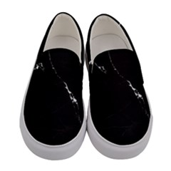 Black Marble Tiles Rock Stone Statues Women s Canvas Slip Ons