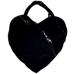 Black Marble Tiles Rock Stone Statues Giant Heart Shaped Tote by Nexatart
