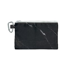 Black Marble Tiles Rock Stone Statues Canvas Cosmetic Bag (small)