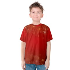 Background Abstract Christmas Kids  Cotton Tee