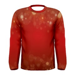 Background Abstract Christmas Men s Long Sleeve Tee