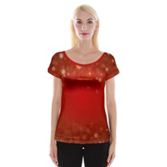 Background Abstract Christmas Cap Sleeve Tops
