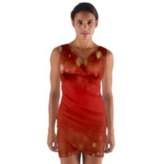Background Abstract Christmas Wrap Front Bodycon Dress