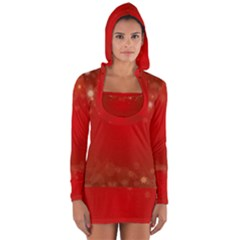 Background Abstract Christmas Long Sleeve Hooded T Shirt