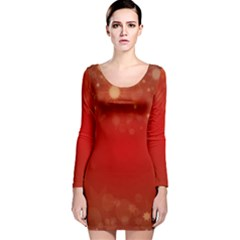 Background Abstract Christmas Long Sleeve Velvet Bodycon Dress