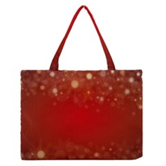 Background Abstract Christmas Zipper Medium Tote Bag