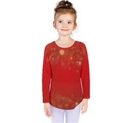 Background Abstract Christmas Kids  Long Sleeve Tee