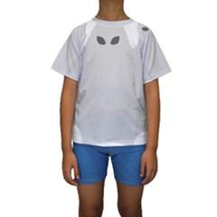 Ghost Halloween Spooky Horror Fear Kids  Short Sleeve Swimwear