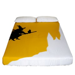 Castle Cat Evil Female Fictiona Fitted Sheet (king Size)