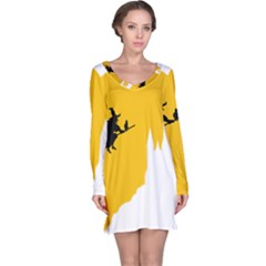 Castle Cat Evil Female Fictiona Long Sleeve Nightdress