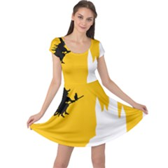 Castle Cat Evil Female Fictiona Cap Sleeve Dress