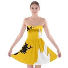 Castle Cat Evil Female Fictiona Strapless Bra Top Dress