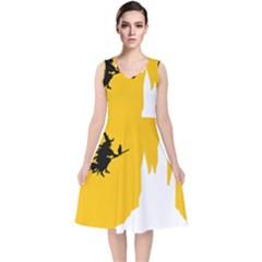 Castle Cat Evil Female Fictiona V Neck Midi Sleeveless Dress