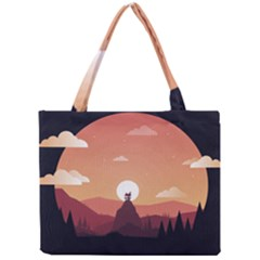 Design Art Hill Hut Landscape Mini Tote Bag