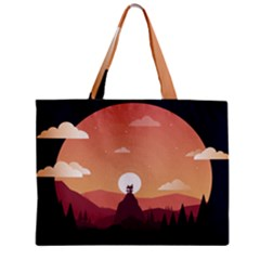 Design Art Hill Hut Landscape Zipper Mini Tote Bag