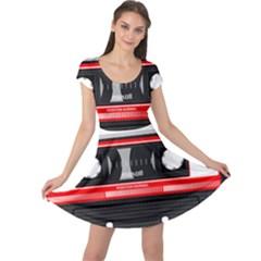 Compact Cassette Musicassette Mc Cap Sleeve Dress