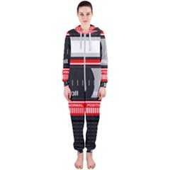 Compact Cassette Musicassette Mc Hooded Jumpsuit (ladies)